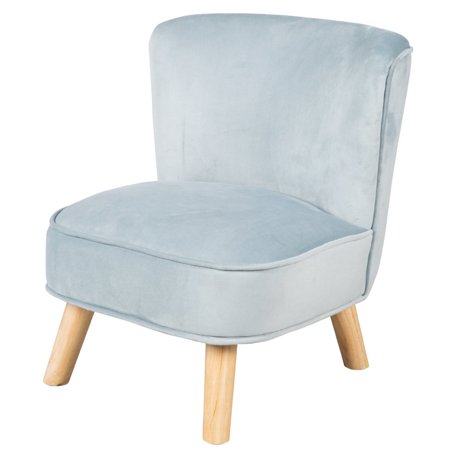roba Børnestol fløjl, lys blå