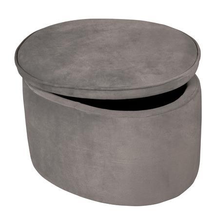 roba Taburete para niños con función de almacenamiento, gris