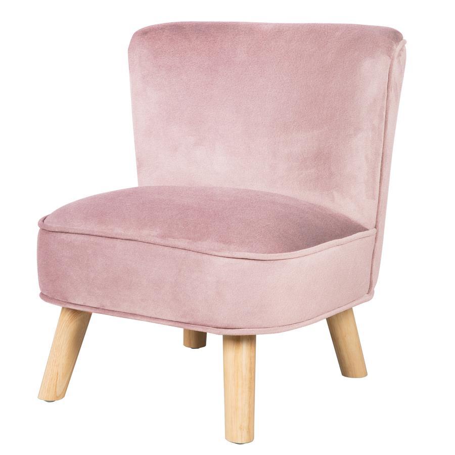 roba Dětská židle sametová, růžová