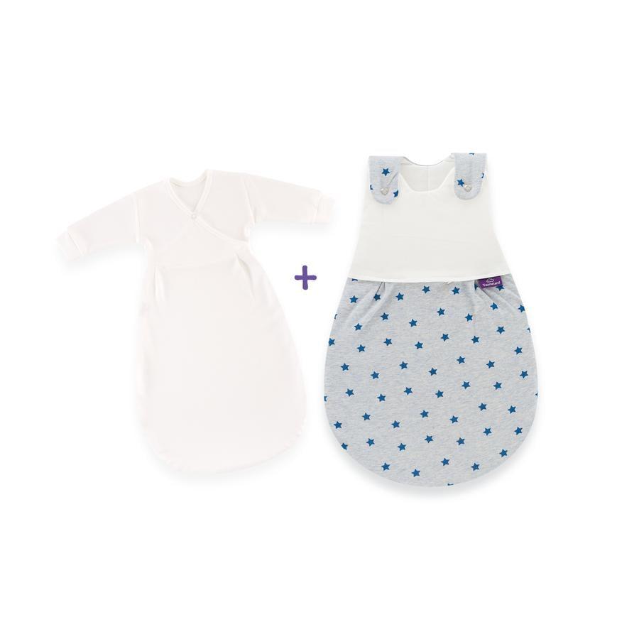 Träumeland Schlafsack-Set Sternentraum blau Größe: 44