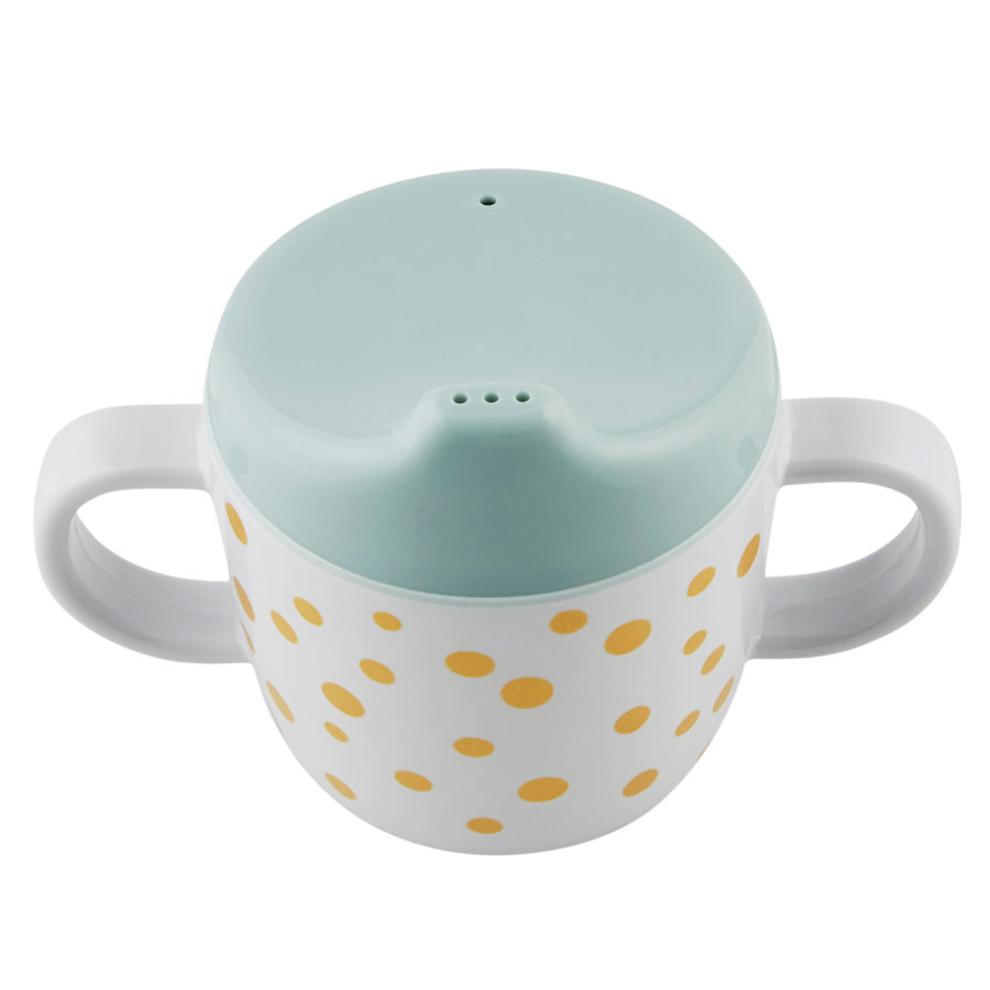 Done by Deer™ Kinderbecher Happy dots gold blau
