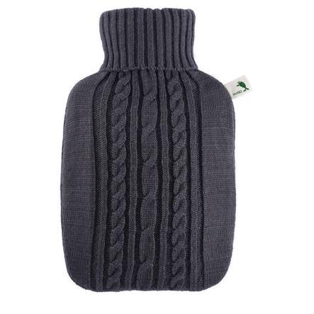 HUGO FROSCH Wärmflasche Klassik 1.8 L Strickbezug anthrazit