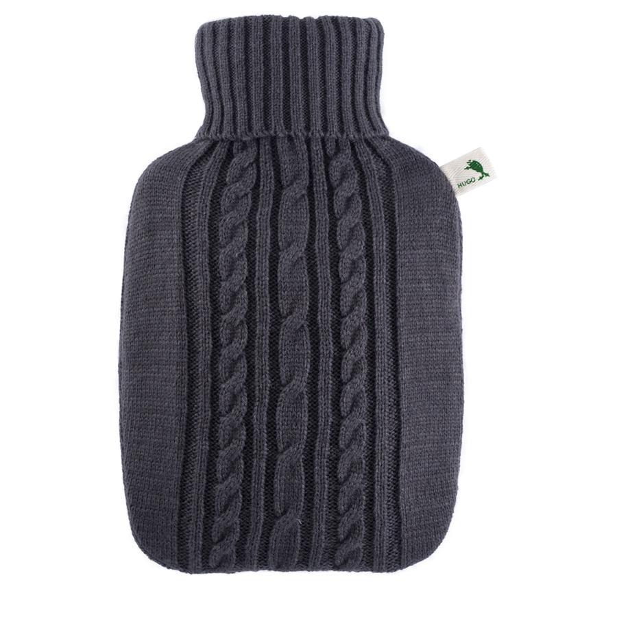 HUGO FROSCH Varmtvannsflaske Klassik 1,8 L strikket deksel antracite