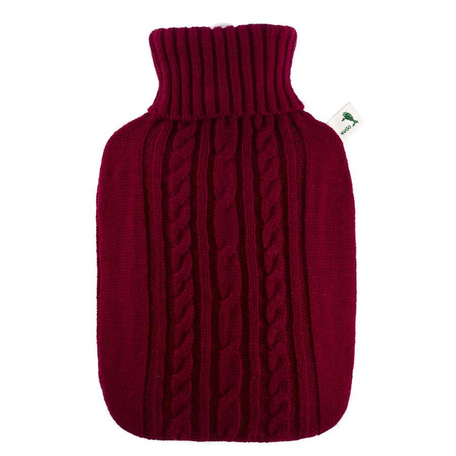 HUGO FROSCH Bouillotte enfant classique 1,8 l housse tricotée rouge