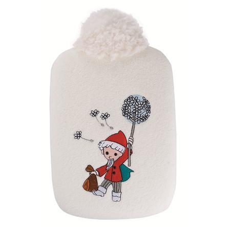HUGO FROSCH Wärmflasche Öko 0.8 L Softfleece weiß