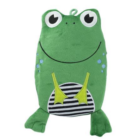 HUGO FROSCH Wärmflasche Öko 0.8 L Veloursbezug Frosch