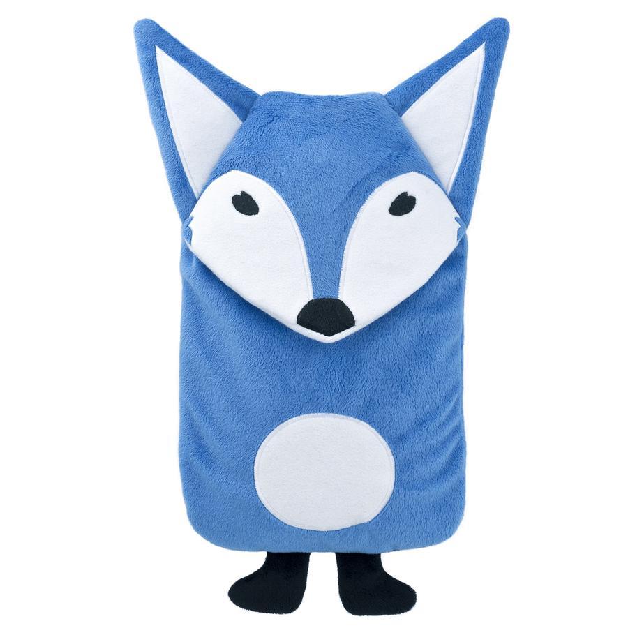 HUGO FROSCH Wärmflasche Öko 0.8 L Veloursbezug Fuchs blau