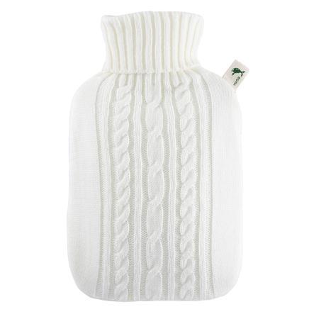HUGO FROSCH Bouillotte enfant classique 1,8 l housse tricotée blanc