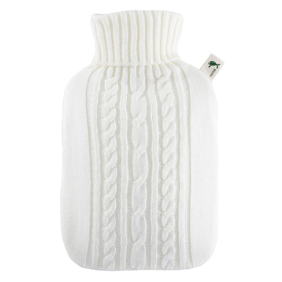 HUGO FROSCH Láhev na horkou vodu Klassik 1,8 L pletená přikrývka bílá