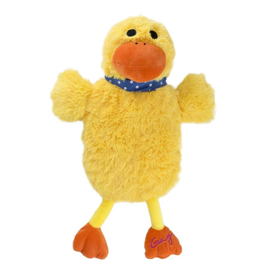 HUGO FROSCH Wärmflasche Öko 0.8 L Plüschbezug Ente Gagi gelb