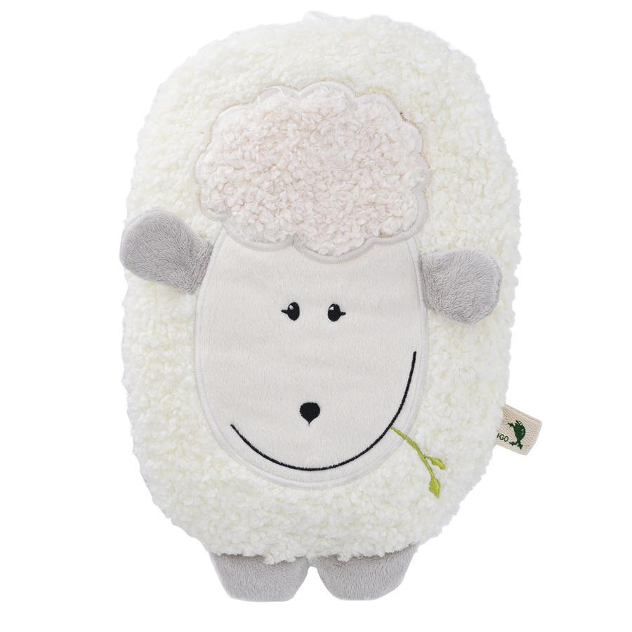 HUGO FROSCH Varmtvannsflaske Öko 0,8 L fleecedeksel lam