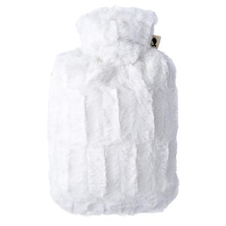 HUGO FROSCH Wärmflasche Klassik 1.8 L Flauschbezug weiß