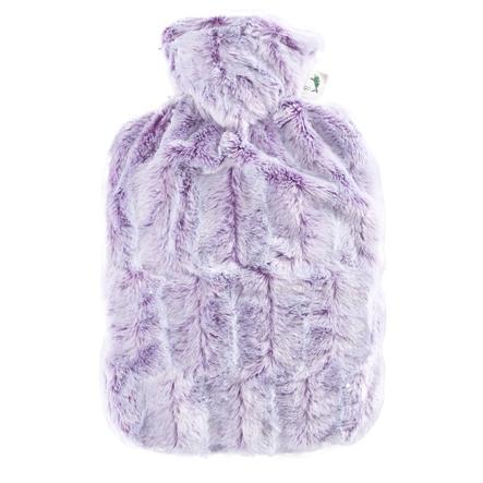 HUGO FROSCH Wärmflasche Klassik 1.8 L Flauschbezug lila-silber