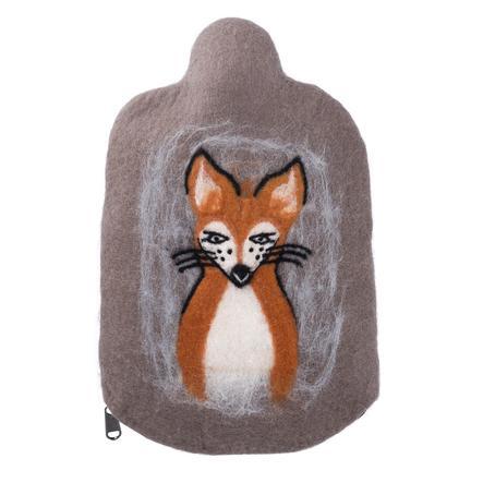 HUGO FROSCH Wärmflasche Öko 0.8 L Filzbezug Fuchs