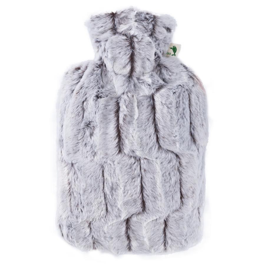 HUGO FROSCH Wärmflasche Klassik 1.8 L Flauschbezug braun-silber