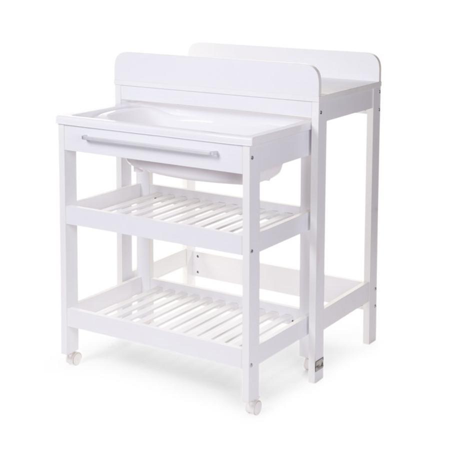 CHILDHOME Combi table à langer bain blanc