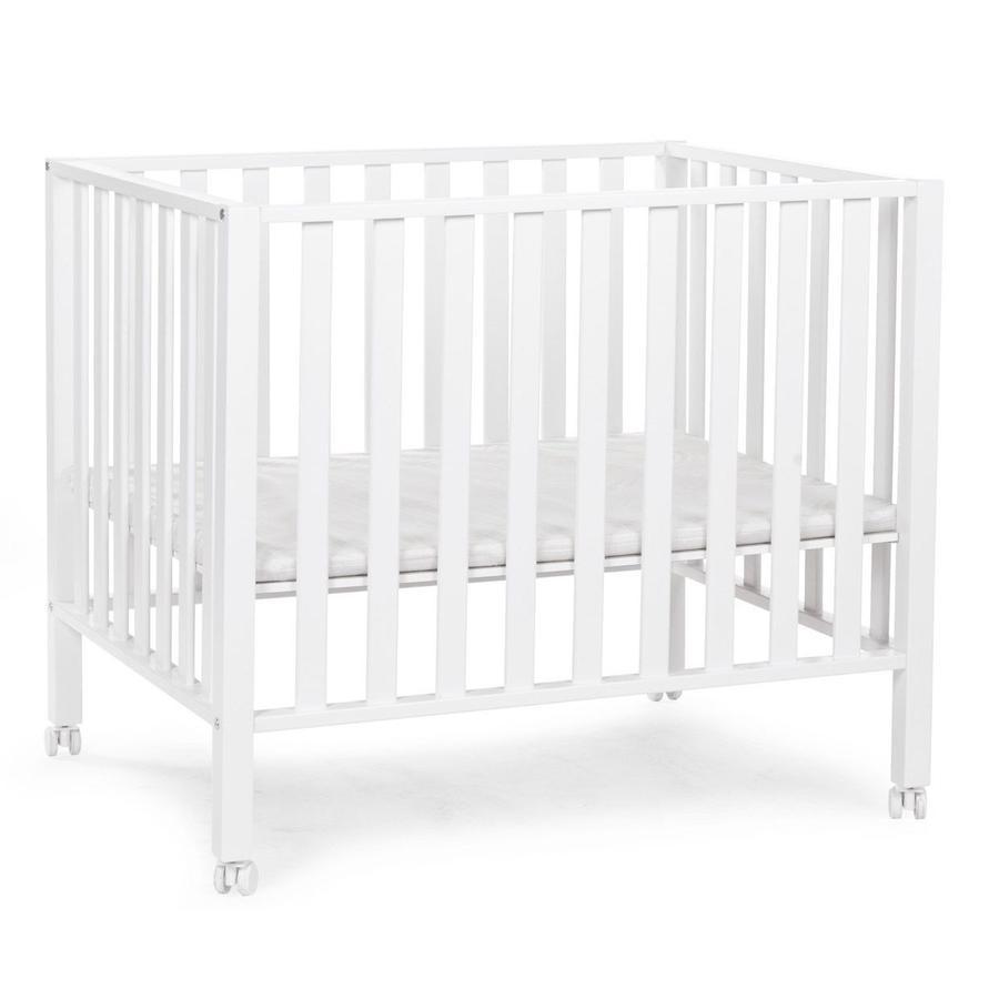 CHILDHOME Laufgitter 94 weiß 75 x 95 cm + Räder