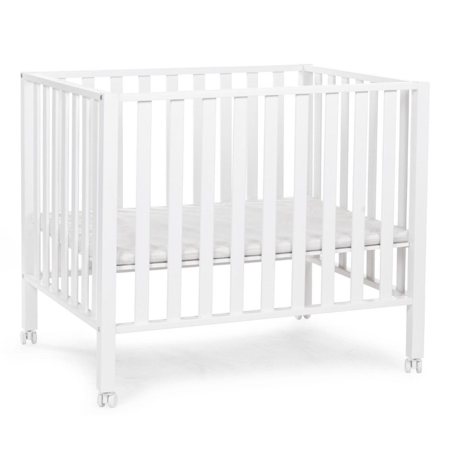 CHILDHOME Legeplads 94 hvide 75 x 95 cm + hjul