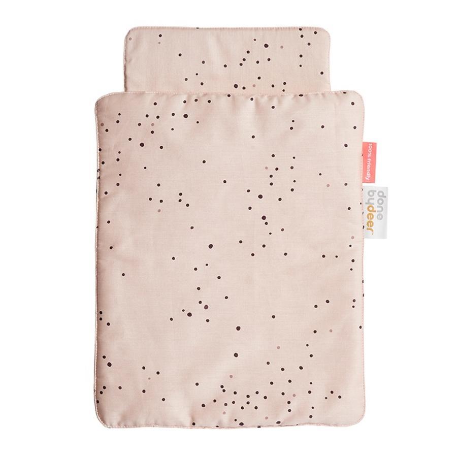 Done by Deer™ Parure de lit pour poupée Dreamy Dots, rose