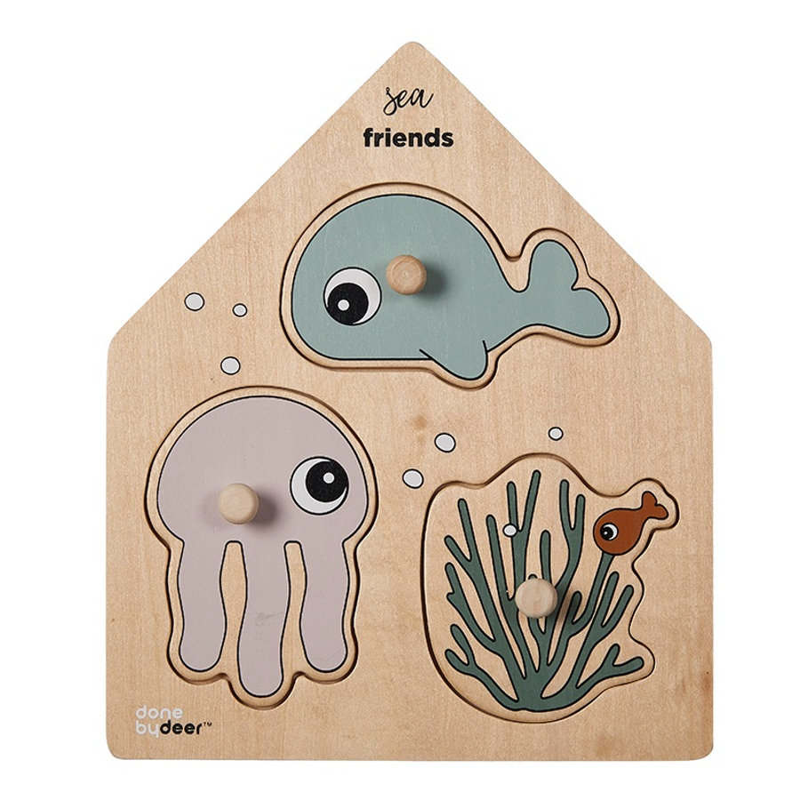 Done by Deer™ Steckpuzzle Sea Friends