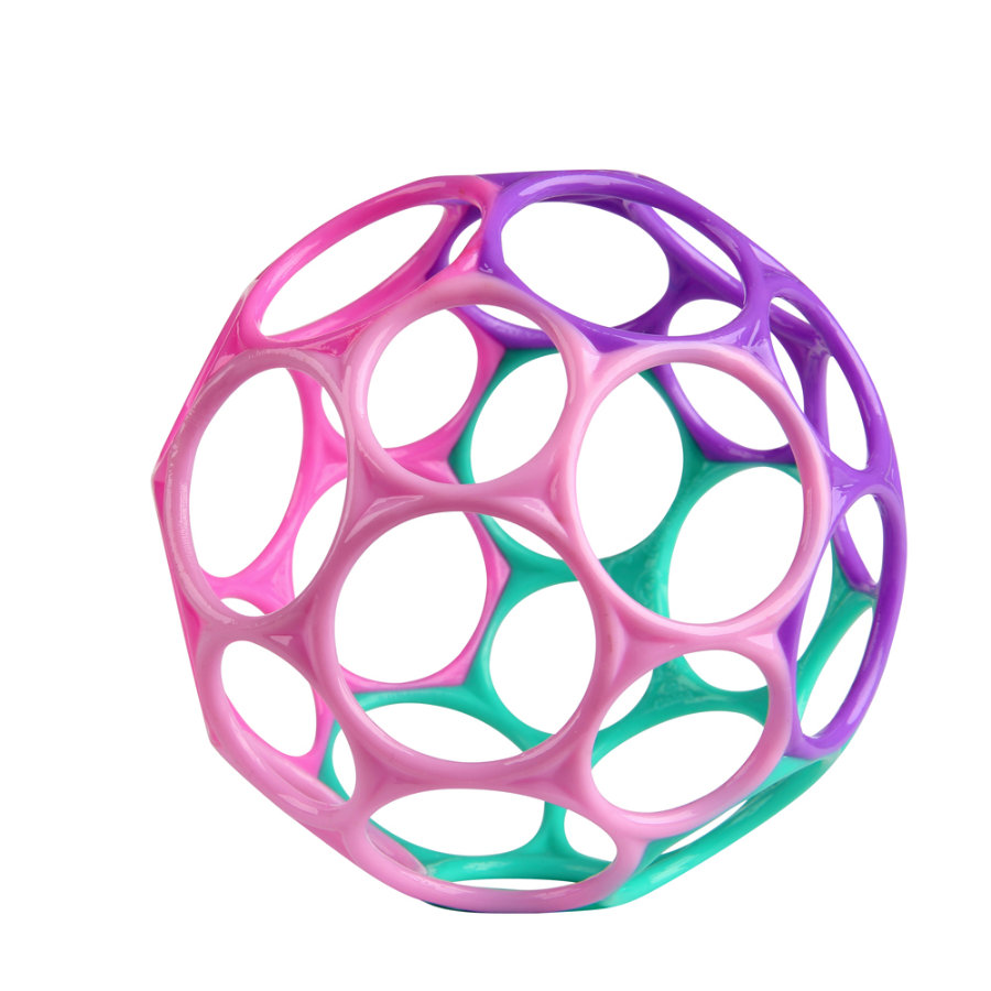 Oball™ Rassel pink/lila, 10 cm