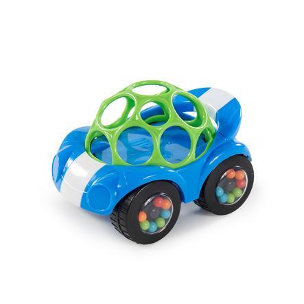 Autíčko Oball ™ s chrastítkem, modrá / zelená