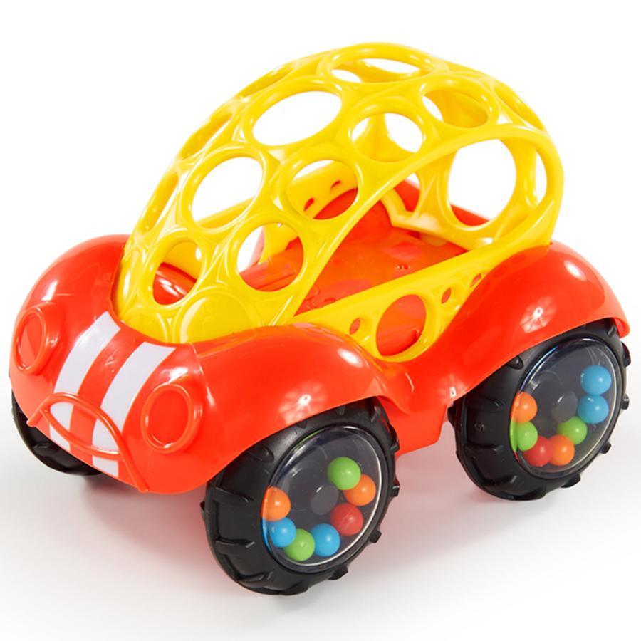 Oball ™ Leksaksbil med skralla, orange / gul