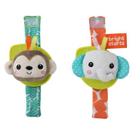 bright starts™ Hochet bracelet de dentition singe éléphant Wrist Rattle Teether