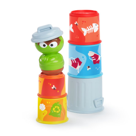 bright starts™ Sesamstraat Oscar the Grounch's Stacking Cans
