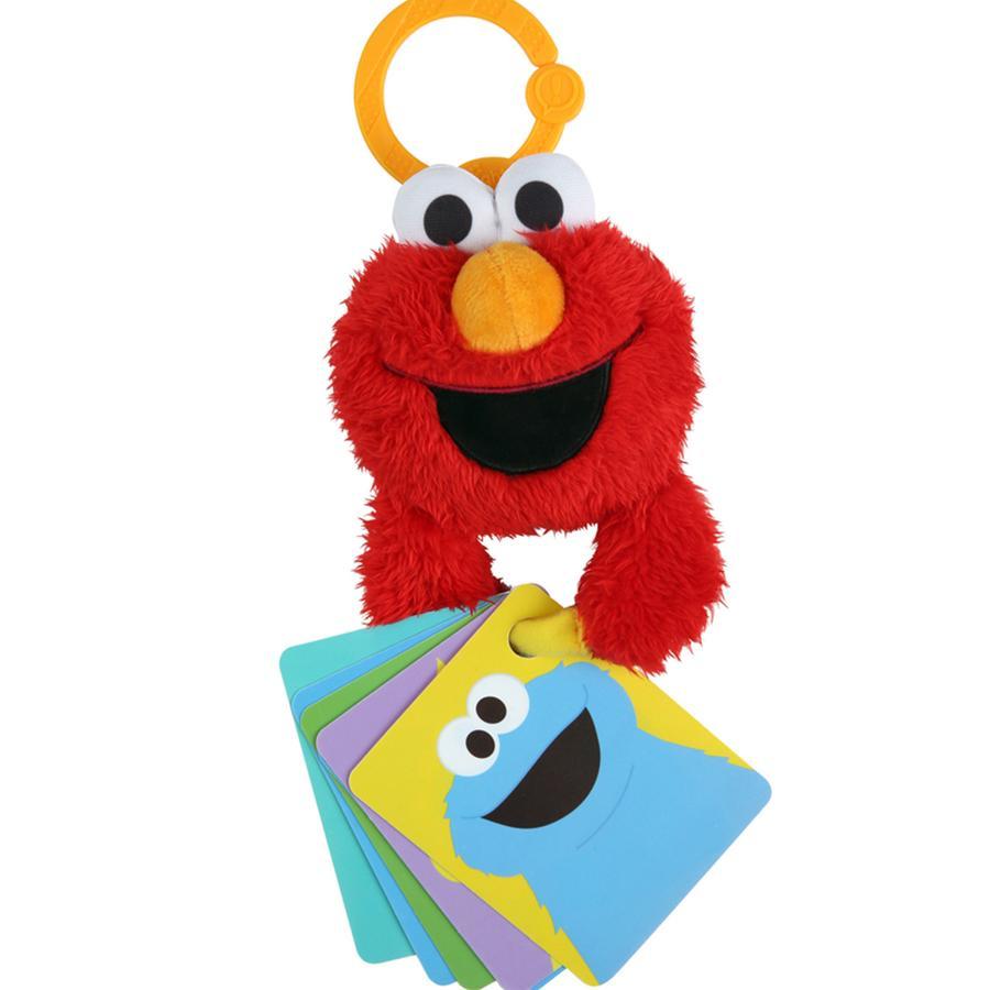 bright starts™ Hängespielzeug Sesamstraße Elmo mit Zahlen- und Buchstabenkarten, rot