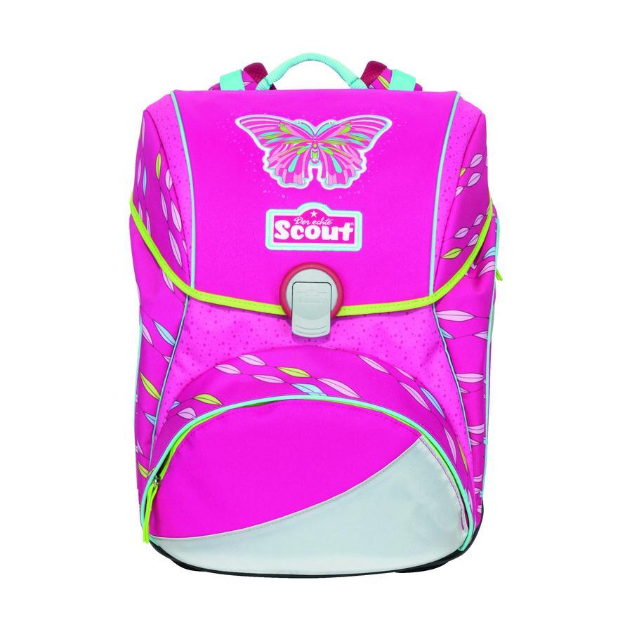 Scout Schooltas Alpha Pink Butterfly