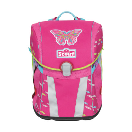 Scout Schooltas Basic Sunny Pink Butterfly
