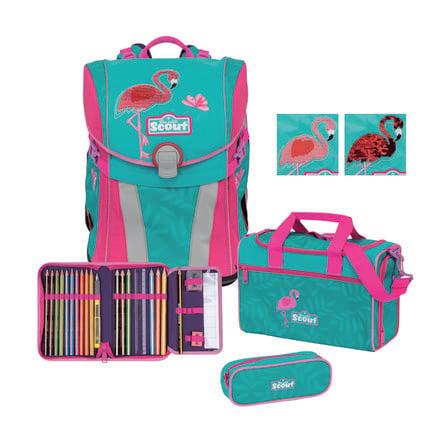 Scout Sunny-Set 4-stykke - Premium Glitter Flamingo