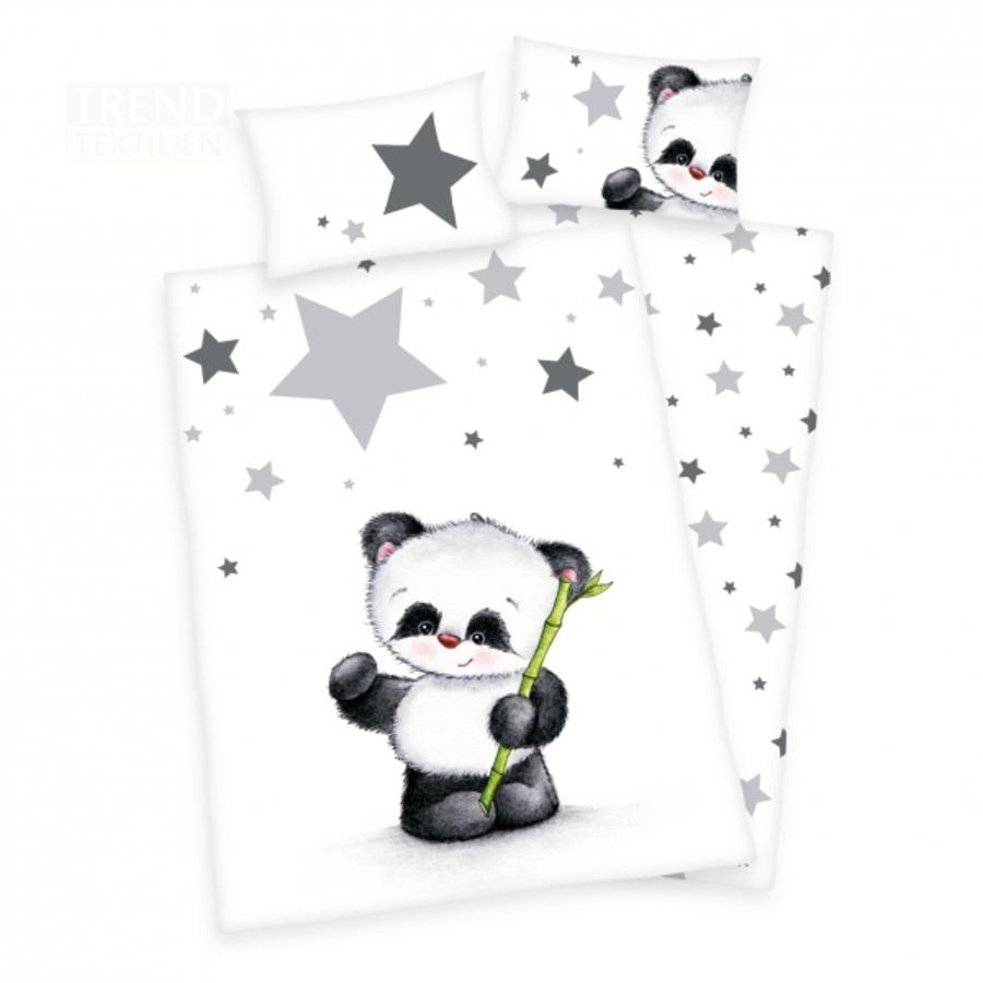 HERDING Povlečení Jana malá panda 100 x 135 cm