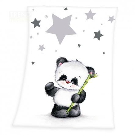 babybest® Microfaser-Flauschdecke Kleiner Panda 75 x 100 cm