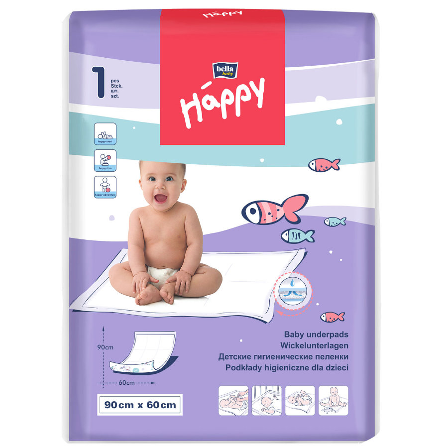 bella baby Happy Wickelunterlage 90  x 60 cm, 1 Stück