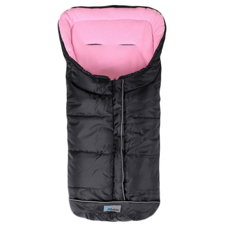 ALTA BEBE Winter Footmuff Standard with ABS (2203) black/rose - Black Emy, Collection 2013/2014
