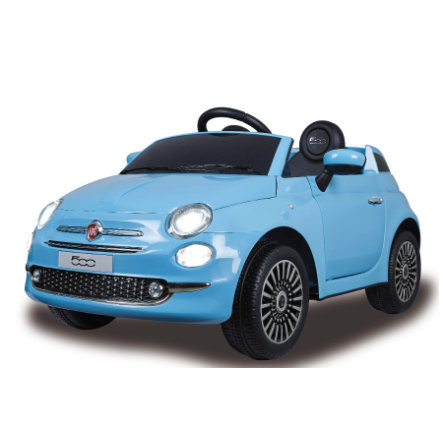 JAMARA Ride-on Fiat 500 blauw 12V