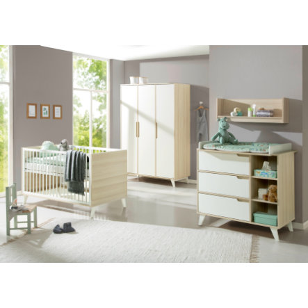 Geuther Ensemble lit enfant commode armoire Schneewittchen acacia blanc
