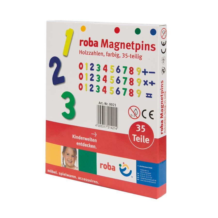roba Chiffres magnétiques enfant bois, 35 pièces