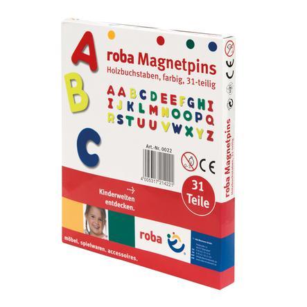 roba dřevěná magnetická písmena, 31 kusů
