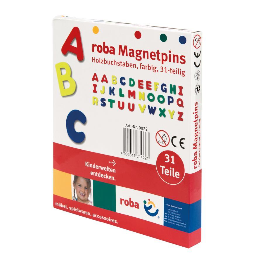 roba letras magnéticas de madera, 31 piezas