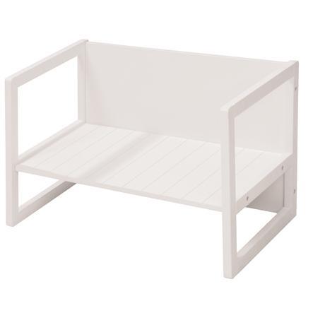 roba Banc enfant table 2en1 bois, blanc