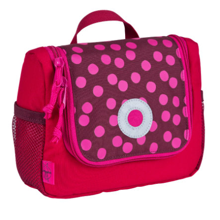LÄSSIG Trousse de toilette Mini Washbag Dottie, rouge