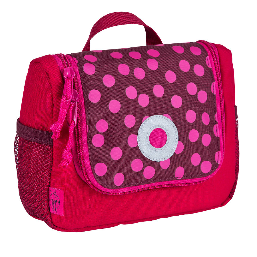 LÄSSIG Beauty case Dottie red, rosso