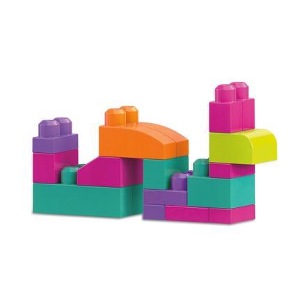 Mega Bloks - sac en brique, rose (80 pièces)