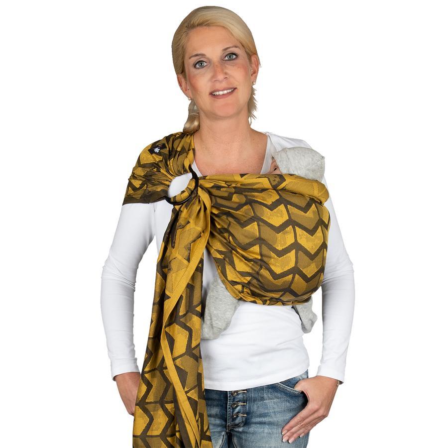 Hoppediz šátek Ring-Sling Jacquard Amsterdam Yellow