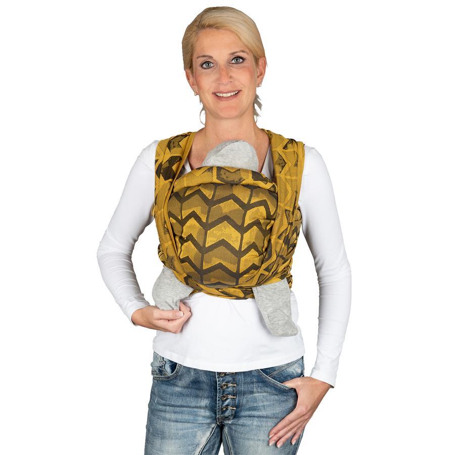 HOPPEDIZ Dlouhý šátek Jacquard Amsterdam Yellow