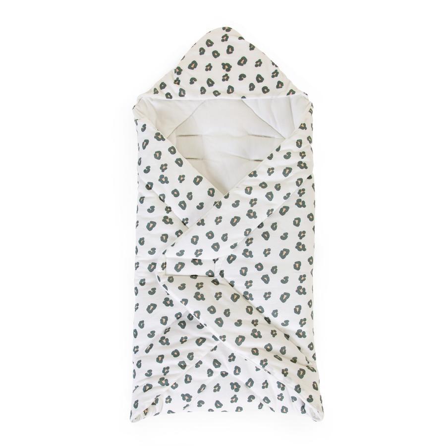 CHILDHOME Couverture bébé enveloppante léopard 75x75 cm