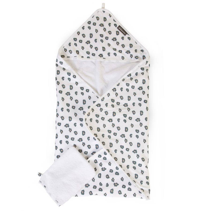 CHILDHOME badehåndklæde inkl. vaskehandske Leopard